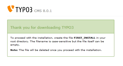 TYPO3 8.0 - Screenshot-TYPO3 Download