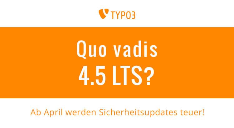 Quo vadis TYPO3 4.5