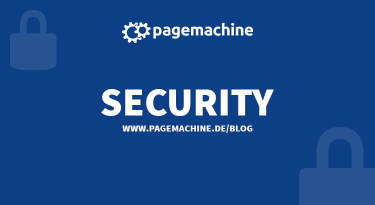 Web Security im Pagemachine Blog